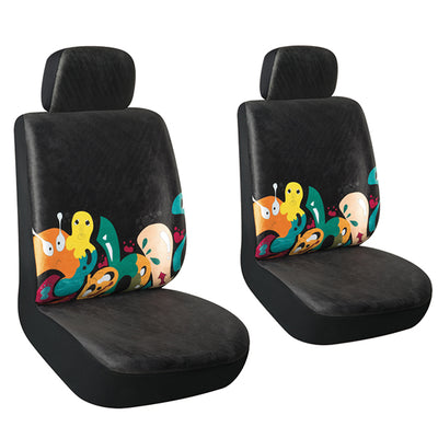 AutoJoy Washable Soft Velvet Car Seat Cover 2pcs Front Seat Covers