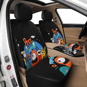 Autojoy Soft Velvet Car Seat Cover online with Fashion Young Animals Digital Printing