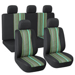 Autojoy Jacquard Green Airbag Ready Car Seat Cover Full Set