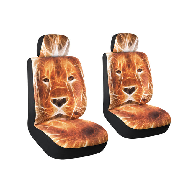 AutoJoy Velvet Car Seat Covers with Tiger Digital Printing