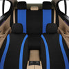 AutoJoy Universal Fit Car Seat Covers Mesh Fabric Full Set