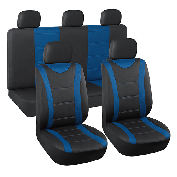 AutoJoy Classic Breathable Car Seat Covers with Detachable Headrests Covers,Soft Touch,Universal Fit
