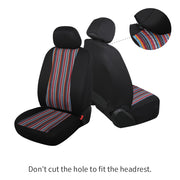 AutoJoy Baja Blanket Car Seat Covers Red Boho Car Seat Covers Full Set