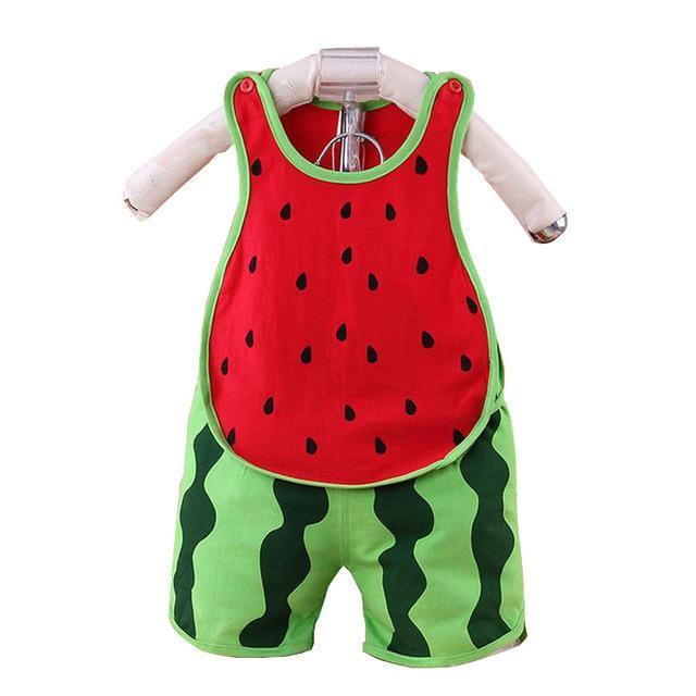 Summer watermelon Print baby clothes set Cotton Short Sleeve baby ...