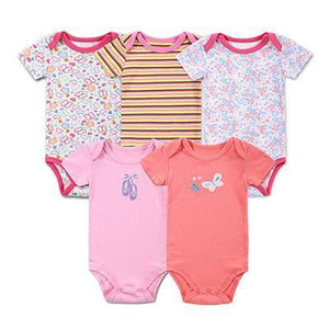 3PCS Short Sleeved Baby Rompers - 100%Cotton Baby > Rompers and Jumpsuits - KidNappy