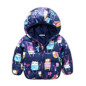 KidNappy Jackets as picture / 2 Years Winter Children Jacket Bow Hoodies Children Coat Girls Clothes Kids Jackets Warm Outerwear Fashion Coat for Girls Clothing