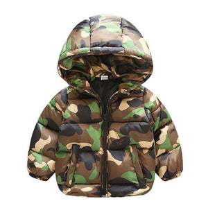 KidNappy Jackets Green / 3 Years New Autumn Winter children clothing casual 1-7T cotton boys outerwear & coats Camouflage style warm hooded down parkas boys