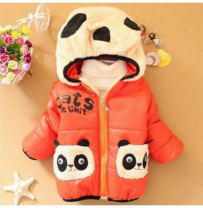 KidNappy Jackets Orange / 2 Years New Cartoon Bear Baby Boys Jacket Kids Winter Keeping Warm Cotton Hoodies Coat Children Casual Outerwear Clothing