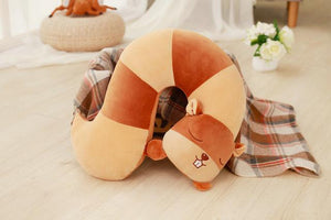 KidNappy Toys > Plush Toys > Animal Plush Toys > Squirrel Plush Toys Default Title 42cm super cute plush toys squirrel raccoon animal tail U pillow home decoration nap pillow for children