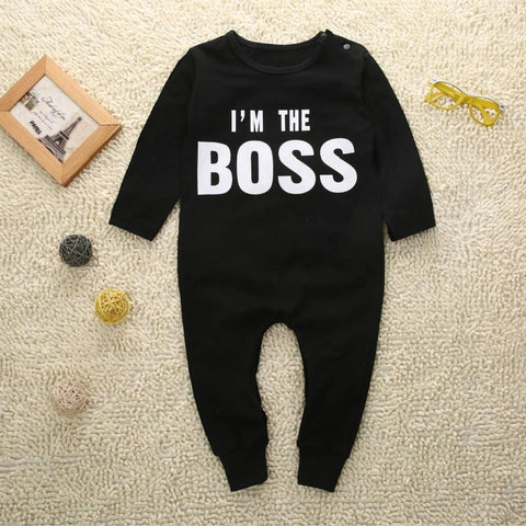 I'm The BOSS Unisex Baby Jumpsuits