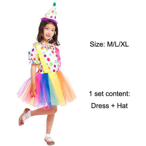 Halloween Costumes Kids Children Circus Clown Costume Naughty Harlequin Fancy Fantasia Infantil Cosplay Clothing for Boys Girls