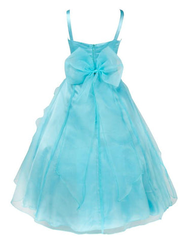 Flower Girls Party Dress Embroidered Formal Bridesmaid Wedding Dress Girls Christmas Ball Gown Kids Size 2-14Years Girl > Party Wears > Tutu Gowns - KidNappy