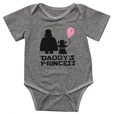 Daddy's princess Romper Cute Newborn, Infant Baby Girls Romper Sunsuit Outfit Baby > Rompers and Jumpsuits - KidNappy