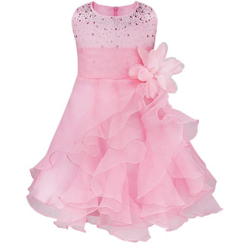 Kids flower girl dresses for wedding pageant dress for girls toddler junior child gown 3 Months - 3 Years Girl > Party Wear > Tutu - KidNappy