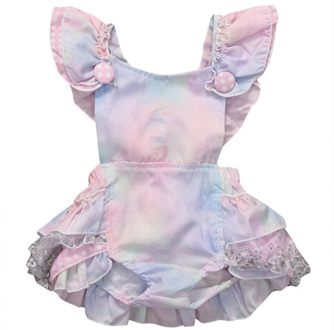 Colorful Sleeveless Newborn Baby Girls Floral Tutu Romper Bowknot Backcross Sunsuit Outfits Baby > Rompers and Jumpsuits - KidNappy