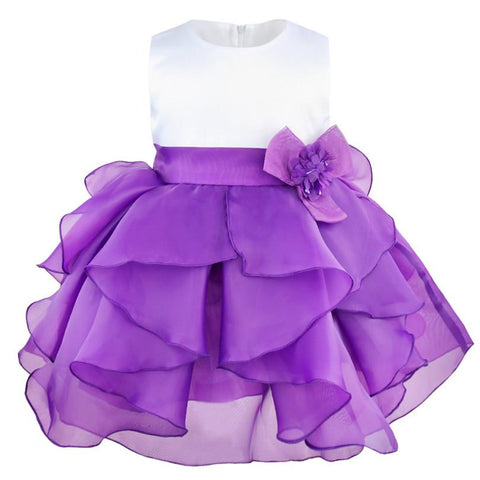 Kids Infant Girls Flower Wedding Dresses Petals Dress Children Bridesmaid Toddler Elegant Dress Pageant Bridal Tulle Party Dress Girl > Party Wears > Tutu Gowns - KidNappy