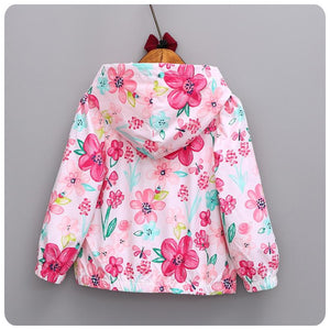 2018 New spring&autumn children coats fashion floral girls hooded jackets 2-7T long sleeve outerwear for kids girls CQ08 Jackets - KidNappy