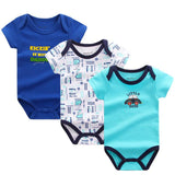 3 pcs/lot Baby Bodysuits Cotton Baby Infant Short Sleeve Newborns Baby Clothing Baby > Rompers and Jumpsuits - KidNappy