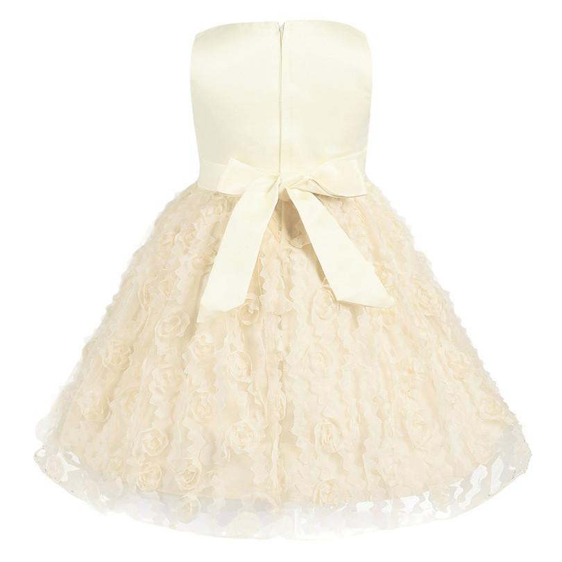Rose Floral Baby Girls Ball Gown Dresses Bridesmaid Formal Clothing ...