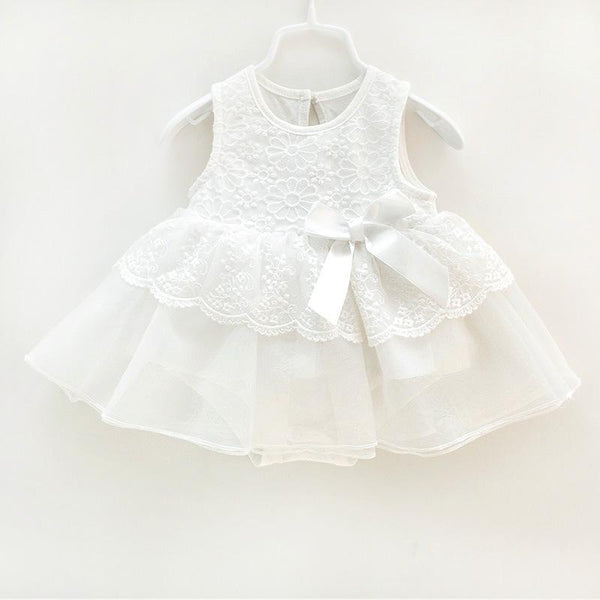 newborn baby girl summer white dress 0 - 9 Months