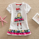 Summer Dress for Girls - Cotton Half Sleeve Girl > Dresses - KidNappy