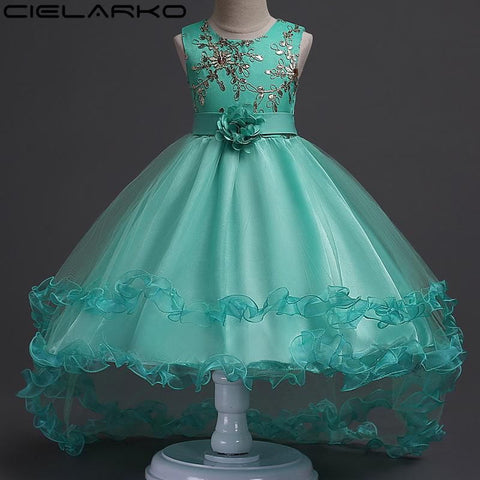 Dresses For Girls Wedding Party Baby Girl Kids Prom Ball Gown Dress Flower tutu Girl Clothing Girl > Party Wears > Tutu Gowns - KidNappy