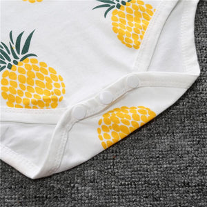 Summer Unisex Baby Rompers Short Sleeve Cotton O-Neck 0-18 Months Pineapple romper Baby > Rompers and Jumpsuits - KidNappy
