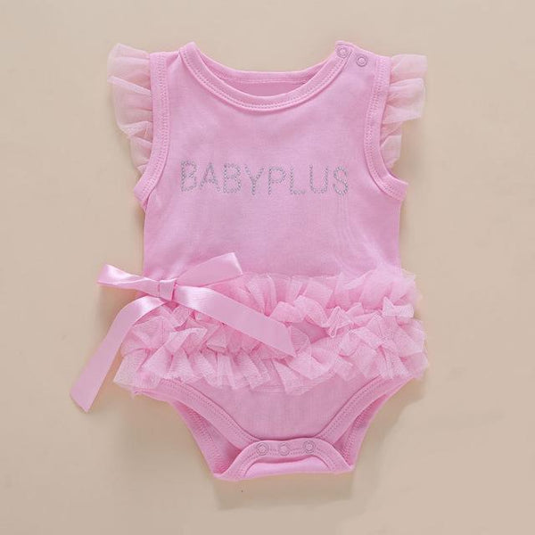 Baby Party Dress Pink Lace Party Romper for Baby Girls Baby > Rompers and Jumpsuits - KidNappy