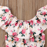 Baby Girls Floral Pink Romper Sunsuit Cotton Summer Onesie  - KidNappy