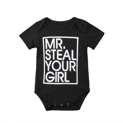 Mr. Steal Your Girl Baby Boy Romper