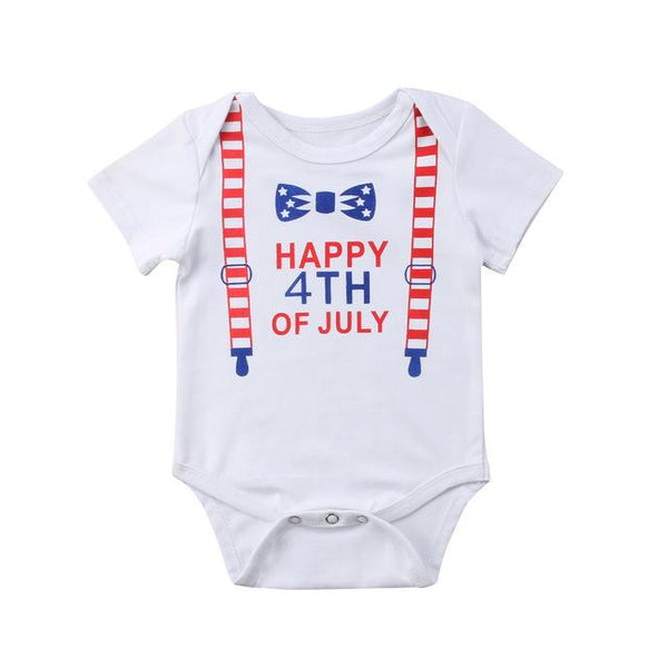 Baby Boys Girls Letters Print Romper Jumpsuit Clothes Outfits Baby > Rompers and Jumpsuits - KidNappy