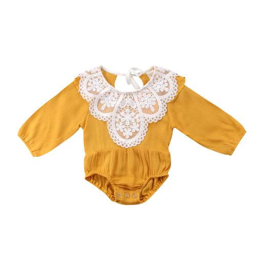 fa03c9f308ce Newborn Baby Girl Romper Lace Floral Sunsuit Summer Clothes Outfits –  KidNappy