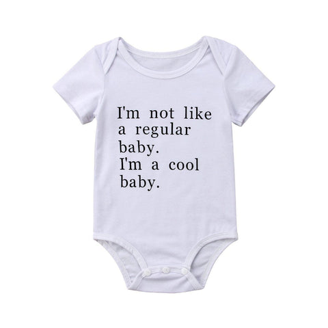 I'm Not Like A Regular Baby. I'm A Cool Baby Unisex Baby Romper