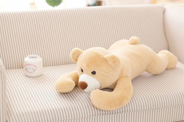 70cm 2018 New Creative Bear plush Toys Lying On Front bear Cloth doll brown/yellow birthday gift stuffed plush doll kids toys Toys > Plush Toys > Animal Plush Toys > Bear Plush Toys - KidNappy