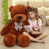 80/120cm Brown Color teddy bear stuffed PP Cotton bear pillow Cushion Toys > Plush Toys > Animal Plush Toys > Bear Plush Toys - KidNappy
