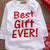 Baby Best Gift Ever Tops + Long Snowflake Pants Hat Xmas Outfit Christmas > Onesies > Rompers - KidNappy