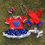 baby Kids 4th of July Patriotic petticoat May Memorial day outfits baby girl fourth of july outfits Girl > Dresses - KidNappy