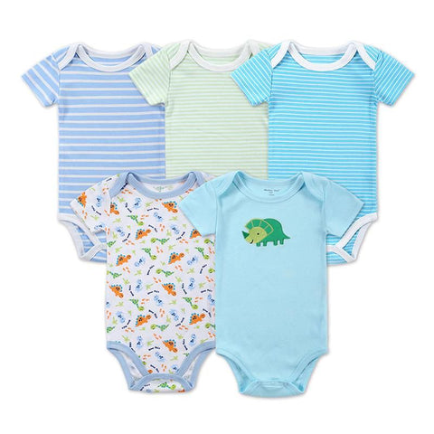 5 Pcs/lot Newborn Body Baby Rompers Triangle Cotton Jumpsuit Infant Pajamas Baby > Rompers and Jumpsuits - KidNappy