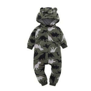 Toddler Hooded Winter Overalls Fleece Fall Jumpsuit