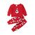 Newborn Infant Baby Girl Boy Snowman Red Christmas T-shirt Tops+Pants Xmas Clothes Pajamas Autumn Set