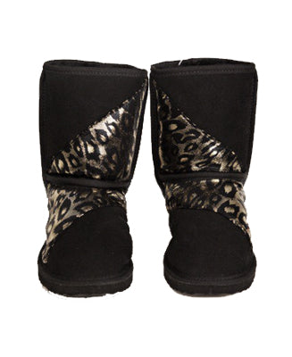 Diagonal Leopard Short Boot