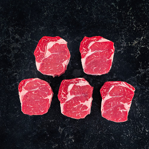 Grain Fed Scotch Fillet Steak 300g 5/pkt