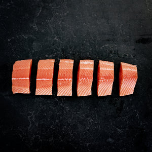 Atlantic Salmon Fillet Skin On 1kg Packets Fresh (5x200g)