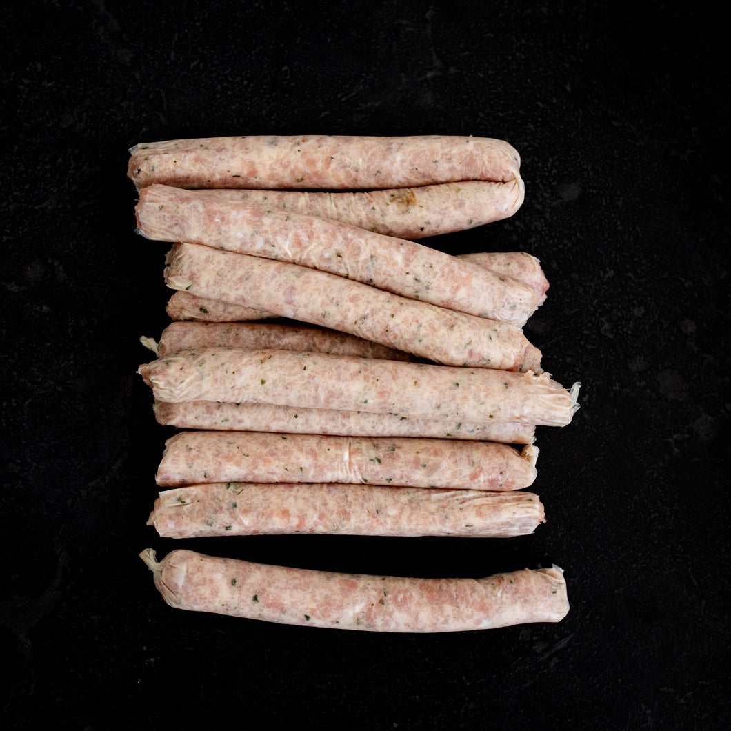 Chicken Sausages Thin 1kg Tray