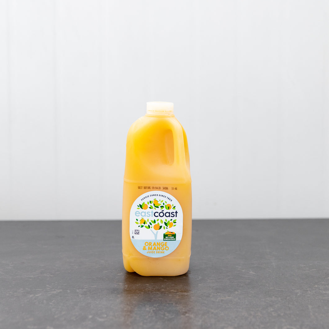East Coast Orange and Mango Juice 2 Litre Carton