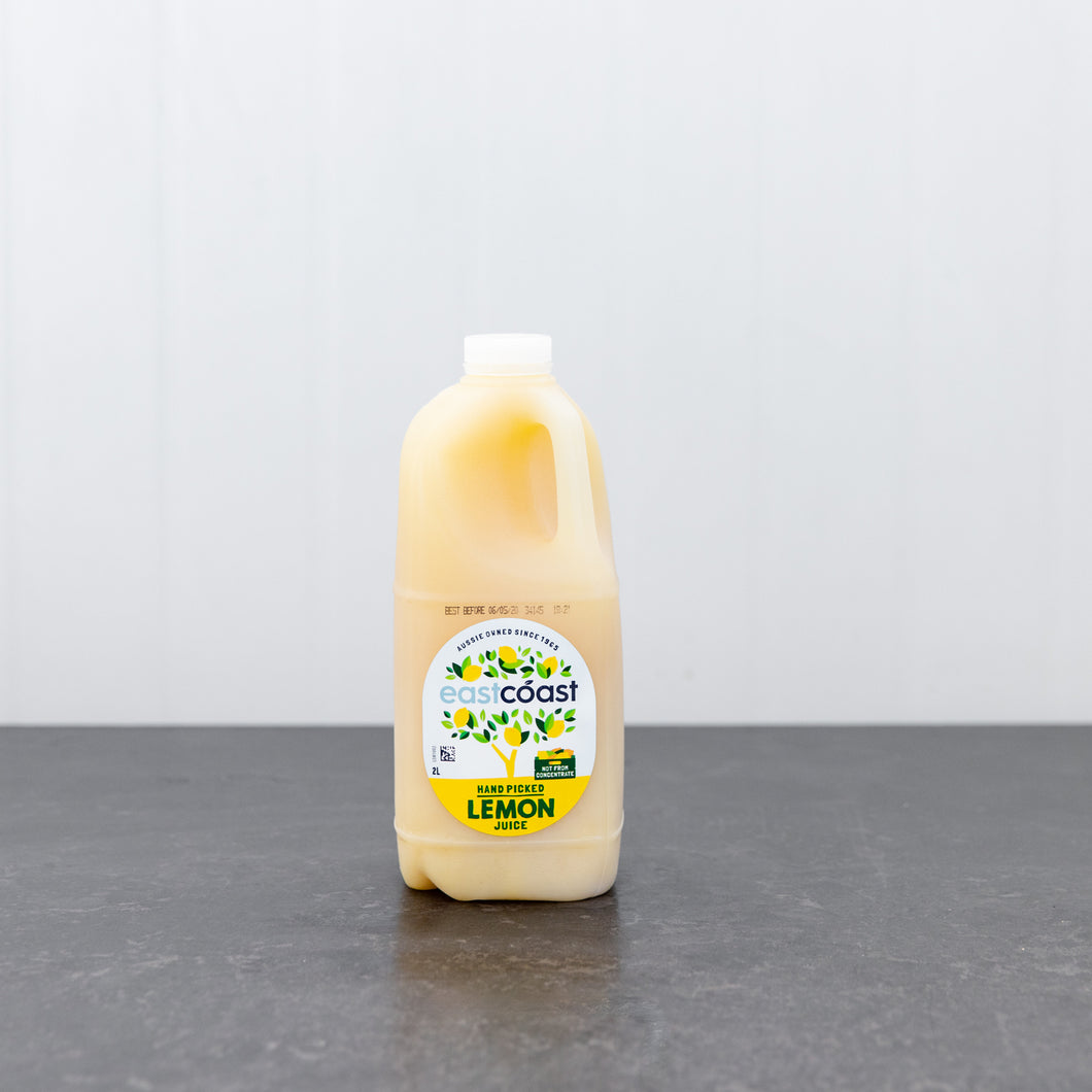 East Coast Lemon Juice 2 Litre Carton
