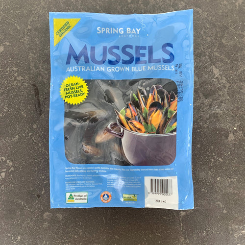 SPECIAL Spring Bay Mussels 1kg Packets