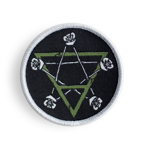 Tarot Suit of Pentacles - Woven Patch