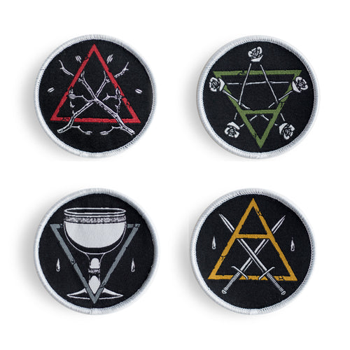 Minor Arcana Tarot Suits - Patch Set