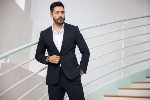 On Stairs in Suit